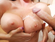 Busty Brunette Jenna Presley Gets Her Tits Covered In Cum After Hardcore Action!
