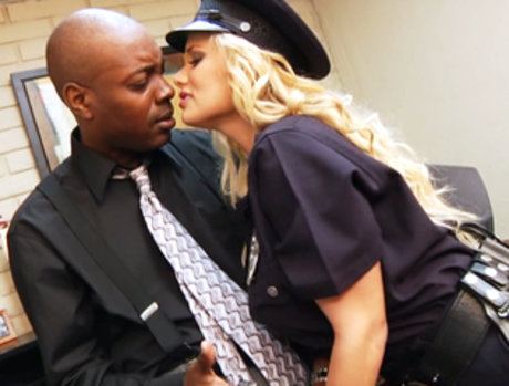 Busty Blonde Babe Shyla Stylez Uses Her Badge To Get Fucked By A Big Black Cock!