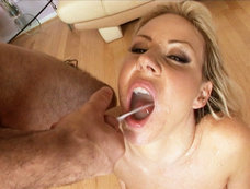 Bukakke Blowjob Gang Bang with Carolyn Reese