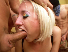 Bleach Blonde Bitch Proxy Paige Gets Her Mouth Loaded With Cum!