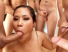 Six Dude Blowjob Bonanza with Asian Jessica Bangkok
