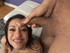 Rachel Milan Gets Bukkake After a Blowjob Gang Bang