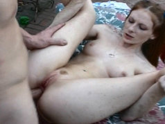 Hardcore Outdoor Anal with Redhead Allison Wyte