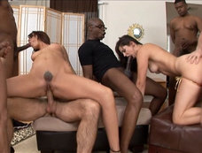 Bobbi Starr and Dana Dearmond Gang Banged by 11 Cocks!