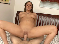 Brunette Katie Cummings Fucks and Swallows in Hardcore POV!