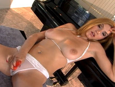 Jamie Lynn - Masturbation Tease from a Redhead with Big Tits