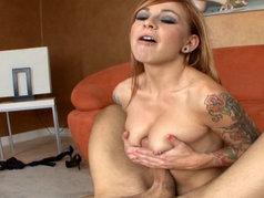 Scarlett Pain - Pierced Nipples Gives a Tits Fuck