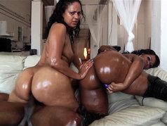 GizelleXXX and Mya G, Hardcore Anal Threesome