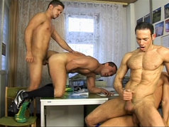 Five Hot Jocks Having Group Sex