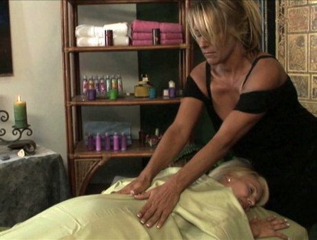 Debi Diamond and Erica Lauren at the Massage Parlor