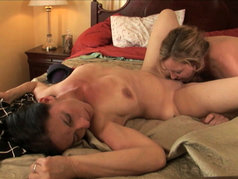 Lovers in Bed: Brunette MILF Melissa Monet and Randi James