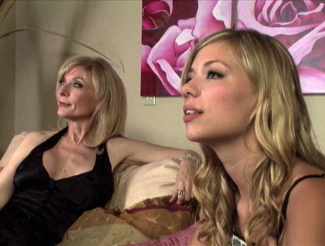 College-Aged Nicole Ray Seduces MILF Nina Hartley