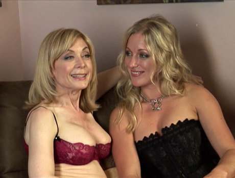 Almost an Hour with College Blonde Dia Zerva and MILF Nina Hartley