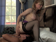 Nina Hartley, Syd Blackovich, and a Strap On!