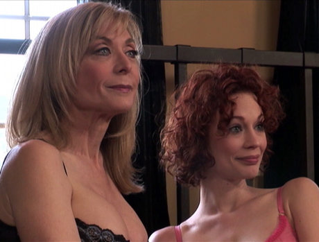 Redhead Justine Joli and MILF Nina Hartley Going Downtown!
