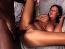 Interracial Sex and Tits Fuck with Bella Blaze