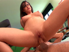 Slender Brunette Jennifer White Fucks at the Office