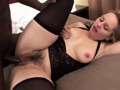 Interracial in Pantyhose with a MILF named Magda