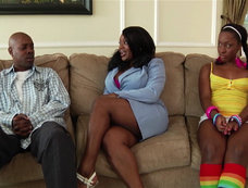 Kim Eternity and Ms. Platinum in a Long Ebony Threesome