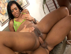 Syndee Capri Rides Lex's Big Dick in a 2 on 1!