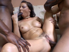 Maria Bellucci in an Interracial Anal 2 on 1