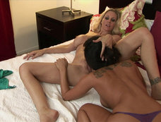 Asa Akira and Julia Ann - Cuddly and Wet