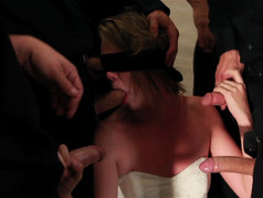Jessie Andrews - Brutal Blowjob Gang Bang