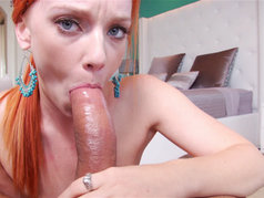 Dani Jansen - Hot Redhead Giving a POV Blowjob