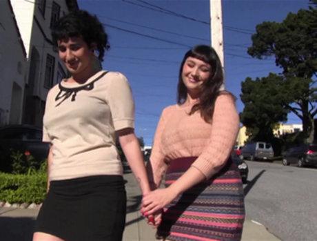 Two Brunette Lesbians Hooking Up