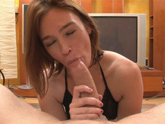 Jodi Taylor Gets Him In Her Mouth