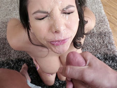 Missy Martinez Ends this Blowjob Covered in Cumshot