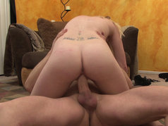 Brook Page Swallows After Riding Dick in POV