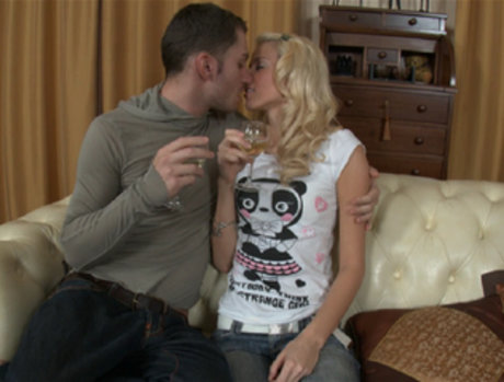 Hot Blonde Lets Him In Both Her Holes