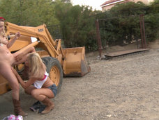 Blair Blows her Man While He Watches Lexi and Tasha